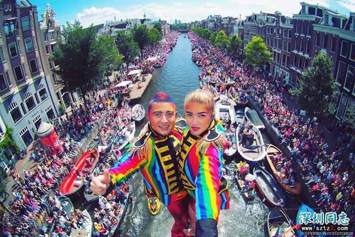 荷兰特色:运河上的同志骄傲巡游