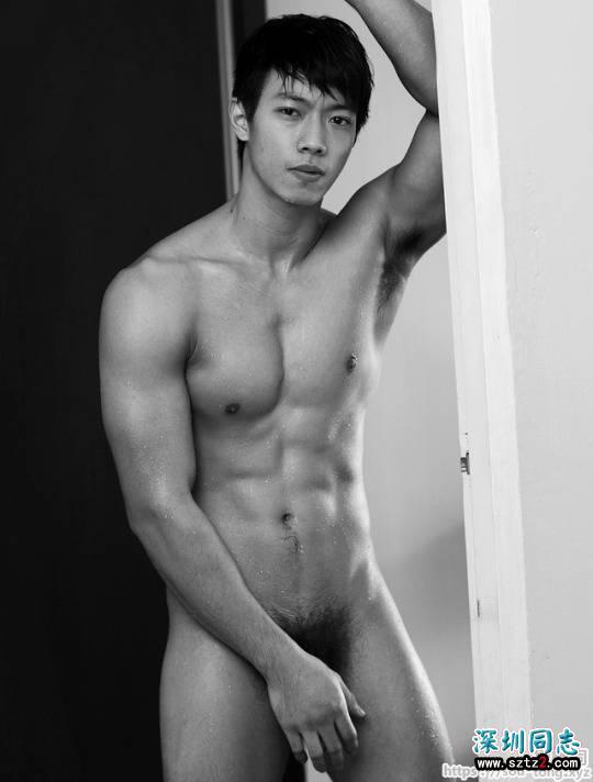 型男性感腹肌和体型