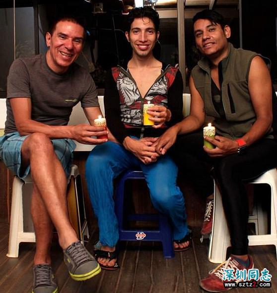 """哥伦比亚三位男同性恋,终于得到法律认可,组成""""三口之家""""!"""