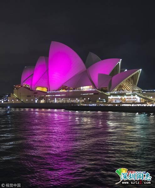 澳大利亚宣布同性恋合法 悉尼歌剧院点亮彩虹色