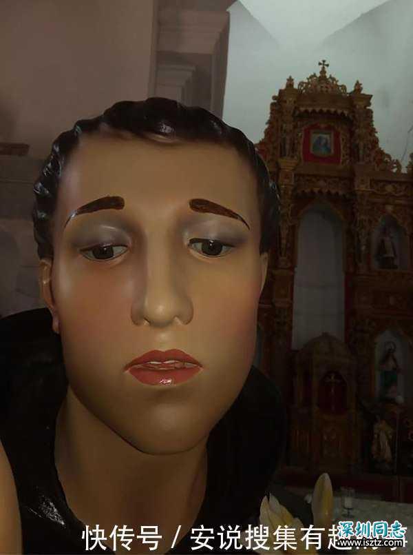 """因圣徒雕像被修复成了""""同性恋"""",哥伦比亚的教区居民集体讨说法"""
